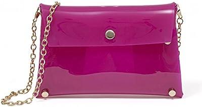 Zarapack bolsa de Jelly transparente PVC Caso de la mujer crossbody Messenger Bag