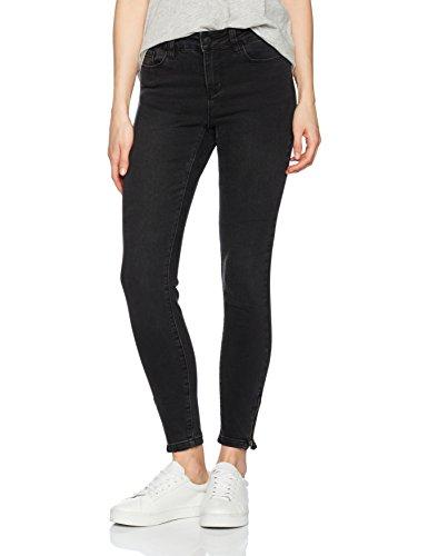 VERO MODA Damen Vmseven NW Slim Zip Ankle J GU199 NOOS Jeanshose, Schwarz (Black), W26/L32