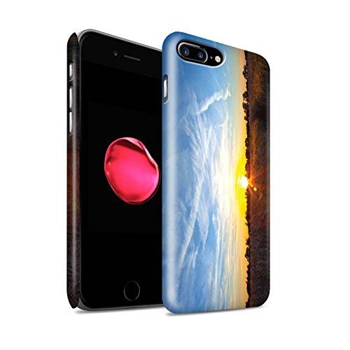 STUFF4 Matte Snap-On Hülle / Case für Apple iPhone 7 Plus / Strand Muster / Sonnenuntergang Kollektion Blauer Himmel