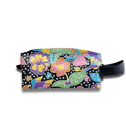 1960er Jahre Psychedelic Garden_12487 Tragbare Reise Make-up Kosmetiktaschen Organizer Multifunktions-Tasche Taschen für Unisex (Zubehör In Den 1960er Jahren)