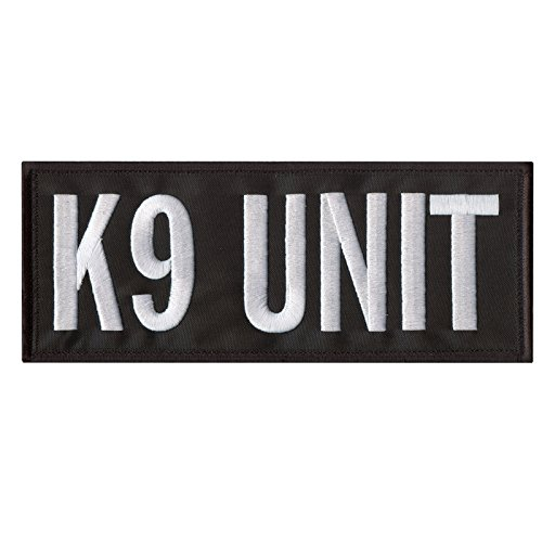 K9 Unit Large XL 10'x4' Body Armor Plate Carrier Police Dog Taktisch Tactical Embroidered Hook-and-Loop Aufnäher Patch -
