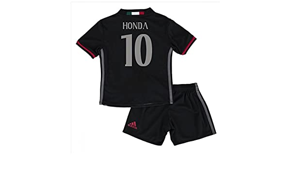 2cb35178cd2 AC Milan 10 Keisuke Honda Home Soccer Football Jersey Sportwear Kit For  Kids In Black: Amazon.co.uk: Kitchen & Home