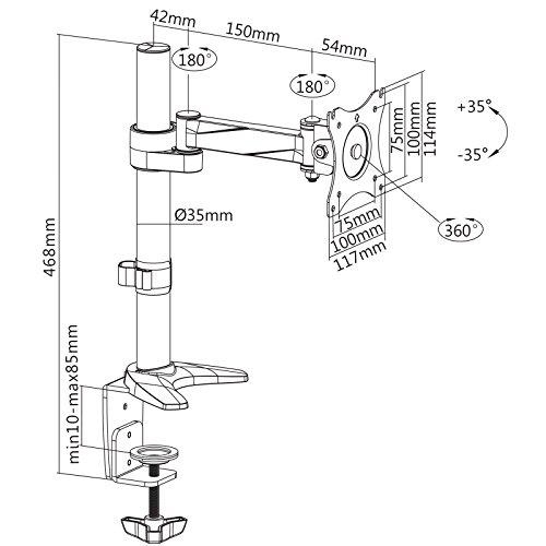 144Hz Monitor - savonga-tv-monitor-halterung-tischstaender-201l-fuer-13-bis-30-zoll-flache-bildschirm-vesa-75x75-100x100-4