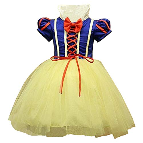 Girl 's Mädchen Snow White Princess Halloween Party Kleid Kleidung Karneval Cosplay Kostüm