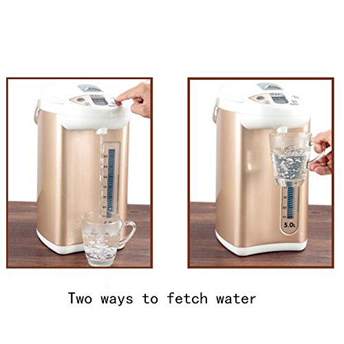 GXIAO Kitchen & Home Appliances Electric Kettle/Electric Water Bottle Multi-function Console PP + 304 Stainless Steel 5L Gold 18 * 35cm Electric Kettles Hot Water Dispensers