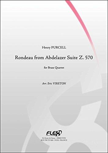 PARTITION CLASSIQUE - Rondeau extrait de la Suite Abdlazer Z. 570 - H. PURCELL - Quatuor de Cuivres