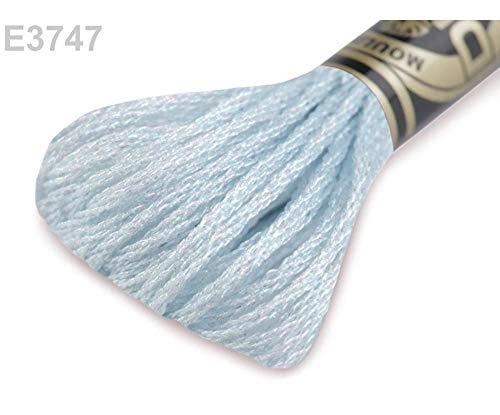1pc E3747 Balada Azul Bordado Hilo Dmc Mouliné Efectos