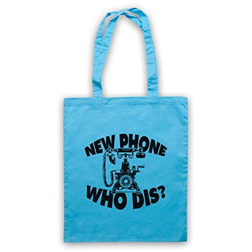 New Phone Who Dis? Funny Slogan Vintage Phone Umhangetaschen Hellblau