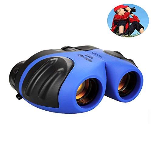 Binoculares para Niños,WISHBB Chicos Juguetes 3-12,HD Vision - Prueba de Golpes - Cómodo Ocular - Observación de Aves - Aprendizaje Educativo Real - Guía de Regalos de Cumpleaños - Mejor Resolución - Campamento de Juguete al Aire Libre (Azul)