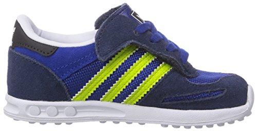 Adidas Originals La Trainer, Sneakers Basses Mixte Bébé Bleu (collegiate Navy/semi Solar Yellow/ftwr White)