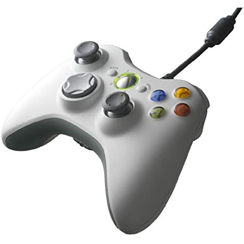 USB wired Game Pad Controller per Microsoft Xbox 360 e Windows PC Slim (Bianco)
