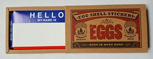 Ei Shell Aufkleber Graffiti Label Aufkleber 80 Pack Hello My Name Is Rotblau