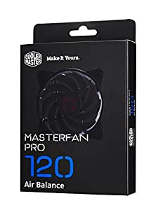 "Cooler Master MasterFan Pro 120 AB AirBalance Fan  ""MFY-B2NN-13NMK-R1, PWM, 120mm, 42.7 CFM, 650/2500 RPM, 3 x Switch settings (Silent, Quiet, Performance)"""