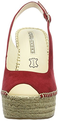 315 4554 Red Zeppa Sandali London Rosso Donna Microsuede Buffalo con RqwOZf