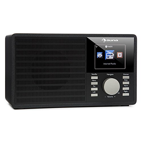 auna IR-160 Internetradio • Radiowecker • Digitalradio • WLAN • MP3/WMA-fähiger USB-Port • AUX • Wecker • Musikstreaming via UPnP • 2.8
