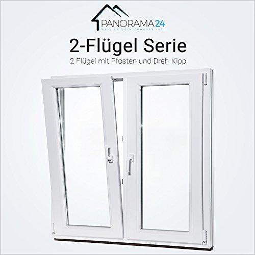 Fenster BxH: 60 x 50 cm wei/ß 3-fach-Verglasung Kellerfenster Kunststoff Lagerware DIN links