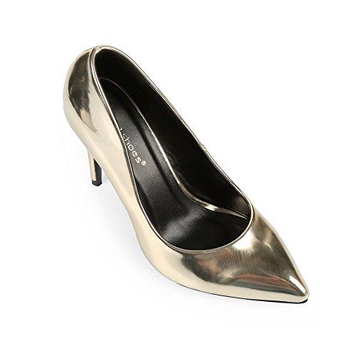 Ideal Shoes-Décolleté classiche Ashley Oro