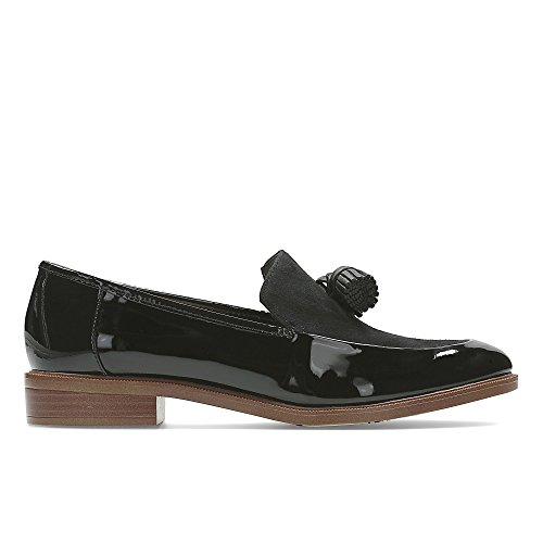 Clarks Women's Loafer Flats Shoes Taylor Spring Black Patent