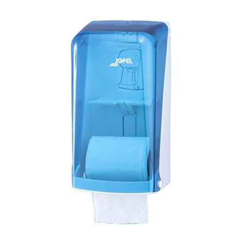 Jofel af51200azur Toilettenpapierhalter doppelt, Haushalt, 2Rollen, Blau