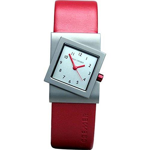 Uhr - Turn - rot/silberfarben