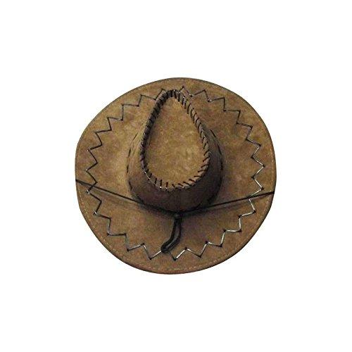 Chapeau cowboy marron buffalo luxe -