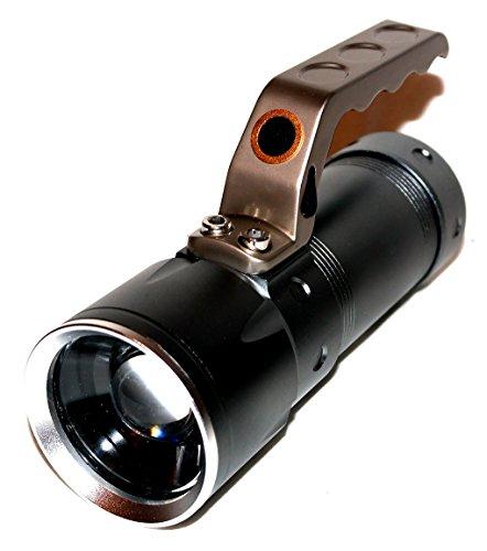 Preisvergleich Produktbild 4 Fach Multifunktion LED Cree Alu High Power Taschenlampe Lichtkanone 680 Lumen 600 Meter Reichweite Zoom Suchlicht SOS Hochleistungs XML-T6 LED Chip