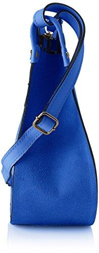 cm Damen Borse Blue Schultertasche 8607 30x30x11 Blau Chicca XTpCw8qxq