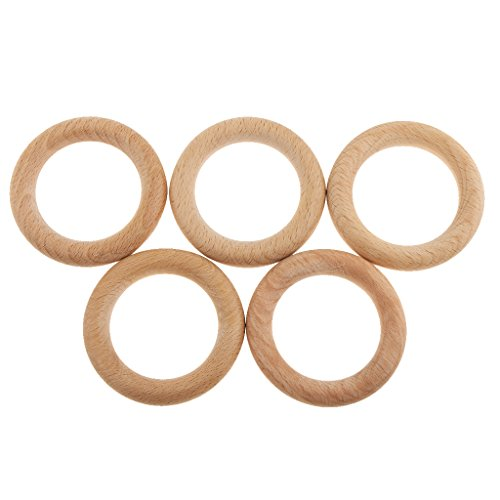 P Prettyia 5X Holzring Holz Ring Zum Basteln DIY Handwerk Schmuck
