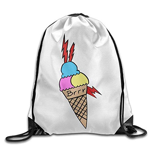 ZZHOO French Bulldog Printed Kawaii Drawstring Backpack Kids Large Capacity Travel Bag Tote Dance 16.9