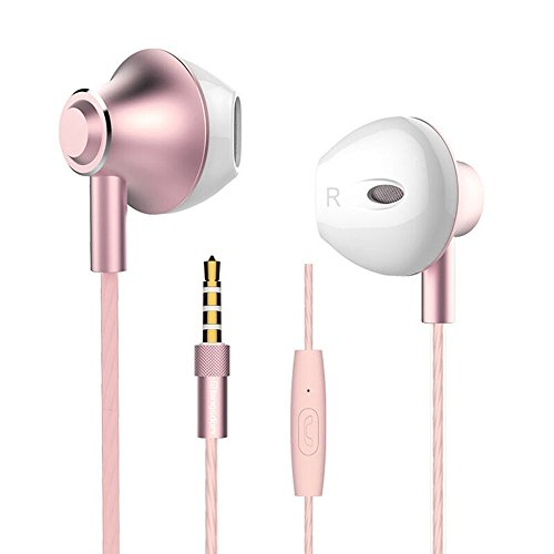 Auricolari In Ear Fusiontech® Cuffie In-Ear Earphones Stereo Universale Microfono, Cuffie con Vivavoce Cuffie Moving coil Headset Earphones con Microfono, Compatibile on iPhone, iPad, iPod, Samsung Galaxy, Huawei, Lettori mp3, Nokia, HTC, Nexus, BlackBerry
