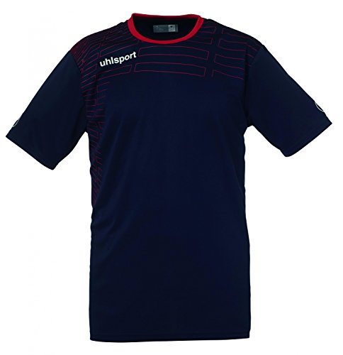 uhlsport Herren Match Team Kit (Shirt&Shorts) Ss marine/Rot
