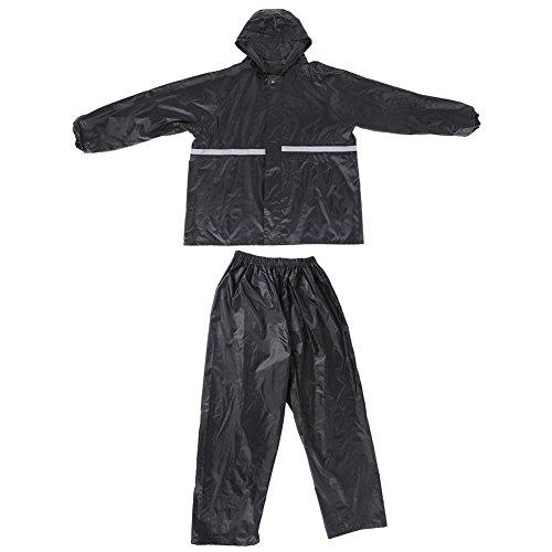2XL / 3XL Unisex PVC Regenanzug Erwachsene Regenset Jacke und Hose für Radfahren Reisen Motorrad Camping ( Abmessung : XXXL )