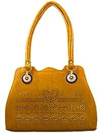 BFC- Buy For Change Fancy Stylish Elegant Yellow Handbags For Woman And Girls