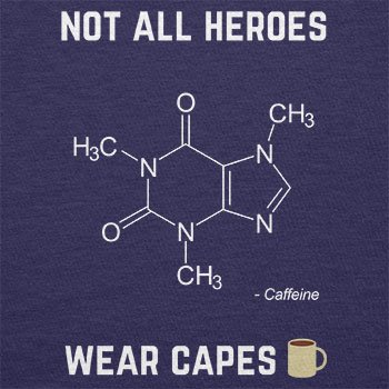 NERDO - Koffein - Not all Heroes wear Capes - Herren Langarm T-Shirt Navy