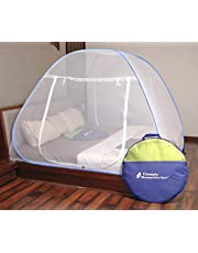 Classic Mosquito Net Foldable Flexible for Queen Size Blue