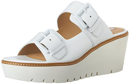 Geox  D Domezia C,  Damen Peeptoes , Weiß - weiß - Größe: 36½