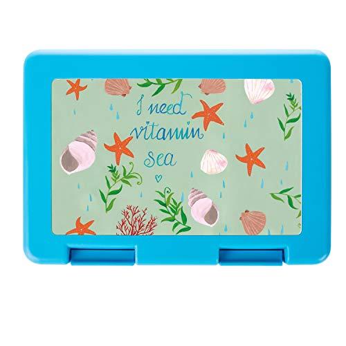 Mr. & Mrs. Panda Brotzeitbox, Brotbox, Brotdose Vitamin Sea mit Spruch - Farbe