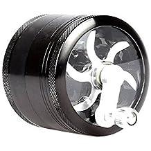 Hosaire Grinder Molinillo Manual con Manivela de Aluminio Irrompible para Hierbas y Especias Atrapa Polen 4