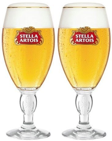 Stella Artois Chalice Biergläser, 568 ml, 2 Stück