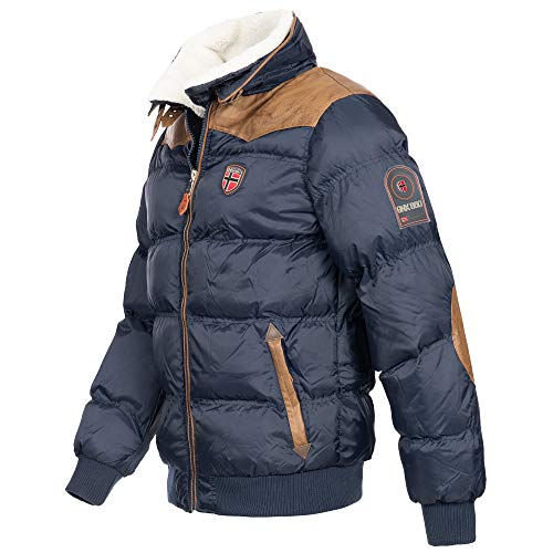 Geographical Norway Emei Herren Winterjacke Steppjacke Navy Gr. M