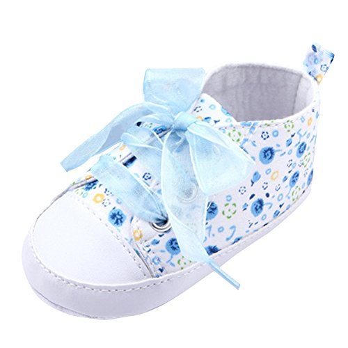 ROPALIA Bébé Fille Garçon Chaussures Souple Semelle en Toile Antidérapants Sneakers pour Bébé 0-9 mois