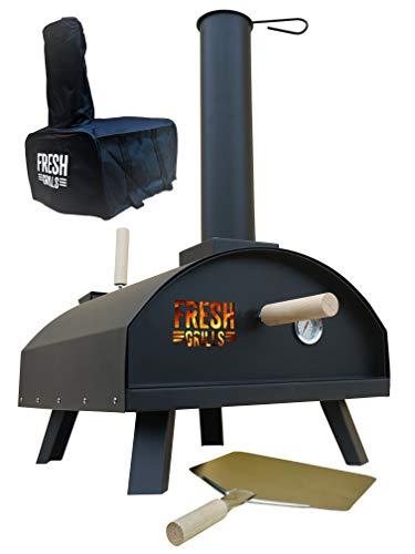 Fresh Grills Außen Pizza Ofen - Holz Fired BBQ Pizza Maker mit Thermometer und Zubehör