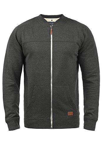 Blend Arco Herren Sweatjacke Collegejacke Cardigan Jacke Mit Stehkragen, Größe:L, Farbe:Charcoal (70818)