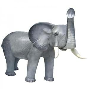 Éléphant avec éléphanteau taille réelle 150 cm