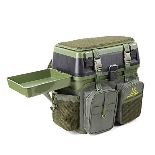 JK Sedile e tempo libero Pesca Tackle Box - per tutti gli stili di pesca con tracolla