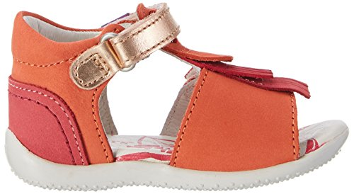 Kickers Bihilana, Sandales  Bout ouvert fille Orange (ORANGE FUCHSIA ROSE)