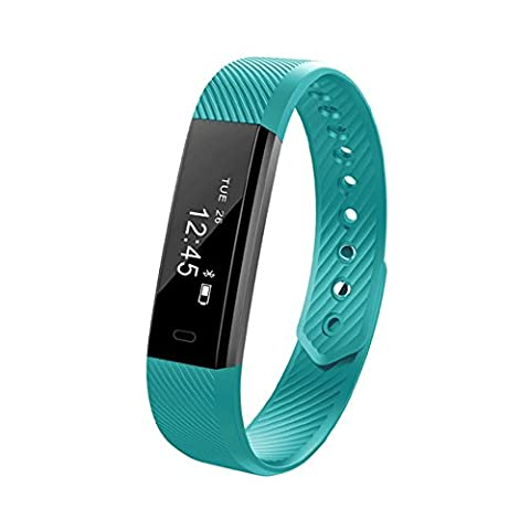 Smart Bracelet,Bluetooth 4.0 Fitness Tracker with Steps Counter, Pedometer Monitoring, Calories burnt and Waterproof,Best Activity Tracker for iPhone 7 /6s/SE, iPad and Samsung Galaxy S8 / S7 and More