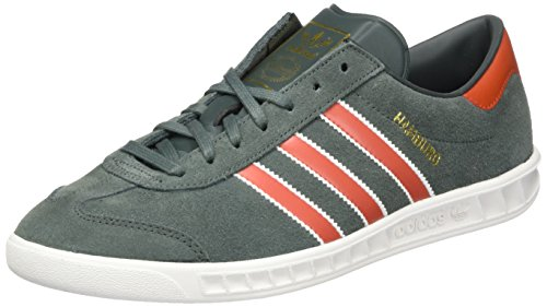 adidas Hamburg, Scarpe da Tennis Uomo Green Orange