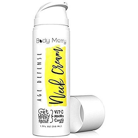 Body Merry Age Defense Neck Crema Fortalecimiento Antiarrugas & Cuello firming aha Loción W RHA-503ATC Acid + Vitamina C + CoQ10puede como Daily Face Crema Hidratante
