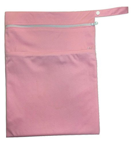 Baby Wet und Dry Tasche für Windeln und Spucktücher–wiederverwendbar und wasserdicht